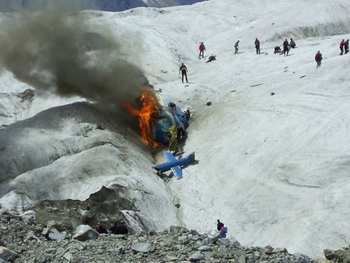 Вертолет МЧС Ми-8 разбился при взлете