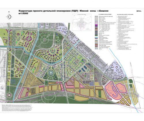 зоны Бишкека (карта-схема)