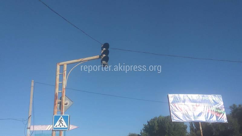 На Комсомольской-Фрунзе в селе Военно-Антоновка не работает светофор, - житель