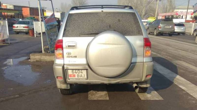 На П.Лумумбы-Ильменской «Тойоту»припарковали на «зебре»