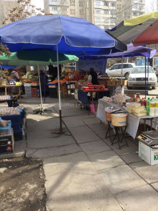 В мкр Асанбай действует мини-рынок, где полная антисанитария, - читатель (фото)