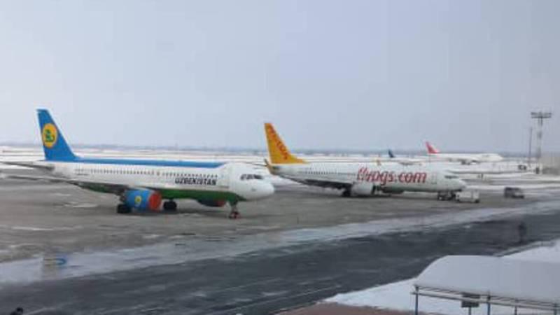 Рейс Бишкек-Стамбул перенесен на 18:30, - аэропорт «Манас» о ситуации с самолетом авиакомпании «Пегасус»