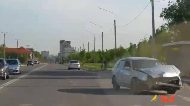На Южной магистрали произошло ДТП. Видео очевидца