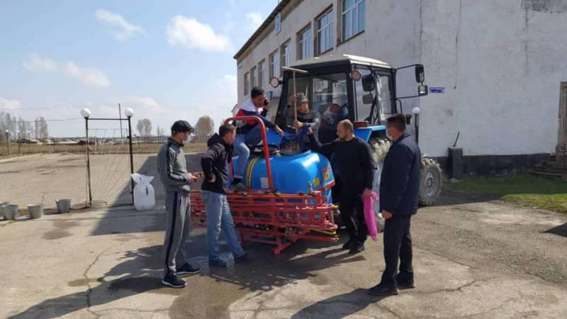 В селе Беш-Терек жители провели дезинфекцию. Видео, фото