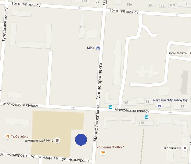 На пересечении улицы Московской и проспекта Манаса построят 4-звездочный отель мирового класса (карта)