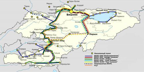Карта – Примерный маршрут ВОЛС по проекту Digital CASA