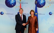 Meeting with EU High Representative for Foreign Affairs and Security Policy Catherine Ashton<br />