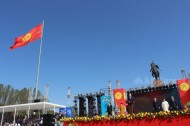 On 31 August 2016, Bishkek held a military parade in honor of the 25th Independence Day of Kyrgyzstan.<br />