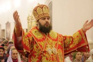Bishop Daniel of Bishkek and Kyrgyzstan performed the Easter services on the night of April 15-16 at the Holy Resurrection Cathedral.<br />