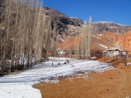 Locals of Murdash village, located 40 km away from the district center in the valley, said that do not yet feel the winter problems.