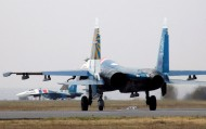 Five Su-27 fighter aircrafts arrived in Kyrgyzstan on occasion of the 10th anniversary of the Russian air base in Kant (which was opened on 23 October 2003).
