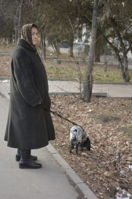 Besides this, it is possible to meet different people on the streets of Bishkek: an elder walking her pet...