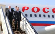 Russian President Vladimir Putin arrived in Ashgabat on October 2, the Kremlin reports.<br />