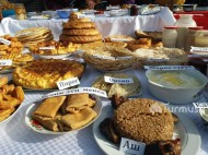 More than 500 dish have been displayed at the exhibition of food in Alay district. <br />