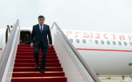 President of Kyrgyzstan Sooronbai Jeenbekov has arrived in China.<br />