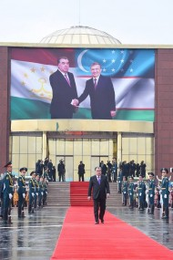 President of Uzbekistan Shavkat Mirziyoyev arrived in Dushanbe on March 9 on his first ever official trip to Tajikistan.<br />