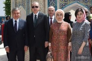 President of Turkey Recep Tayyop Erdogan during his official visit to Tashkent visited the holy places of Bukhara along with President of Uzbekistan Shavkat Mirziyoyev. The first ladies were accompanying the Presidents.