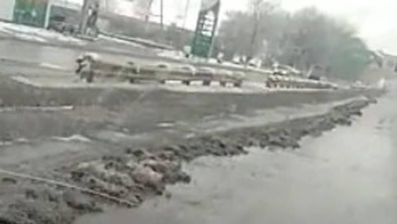 Житель жалуется на некачественную очистку от снега трассы Бишкек — Кара-Балта