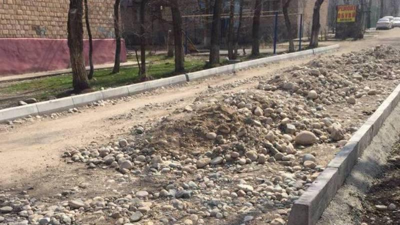 Когда завершится ремонт дорог во дворе многоквартирных домов на пр.Ч.Айтматова?