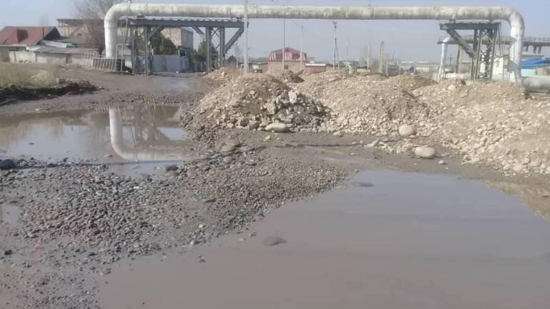 Бишкекчанин жалуется на состояние улицы Путепроводной в Токольдоше. Фото