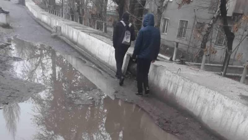 На Масалиева-Ленинградской в городе Ош нет троутара, - горожанин